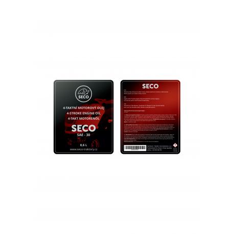 Olej SECO SAE 30 0,6l motorový, letní
