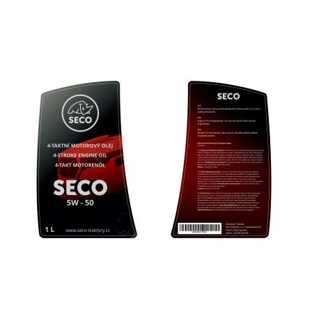 Olej motorový, určený pro 4x4 SECO 5W-50 1l