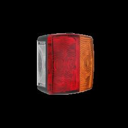 Světlo koncové na vozíky Wessem LT-4 s osvětlením SPZ