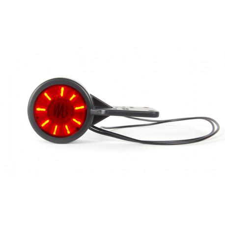 Světlo poziční LED červená/čirá závěsná 12/24V