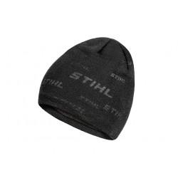 Pletená čepice »MULTILOGO« černá