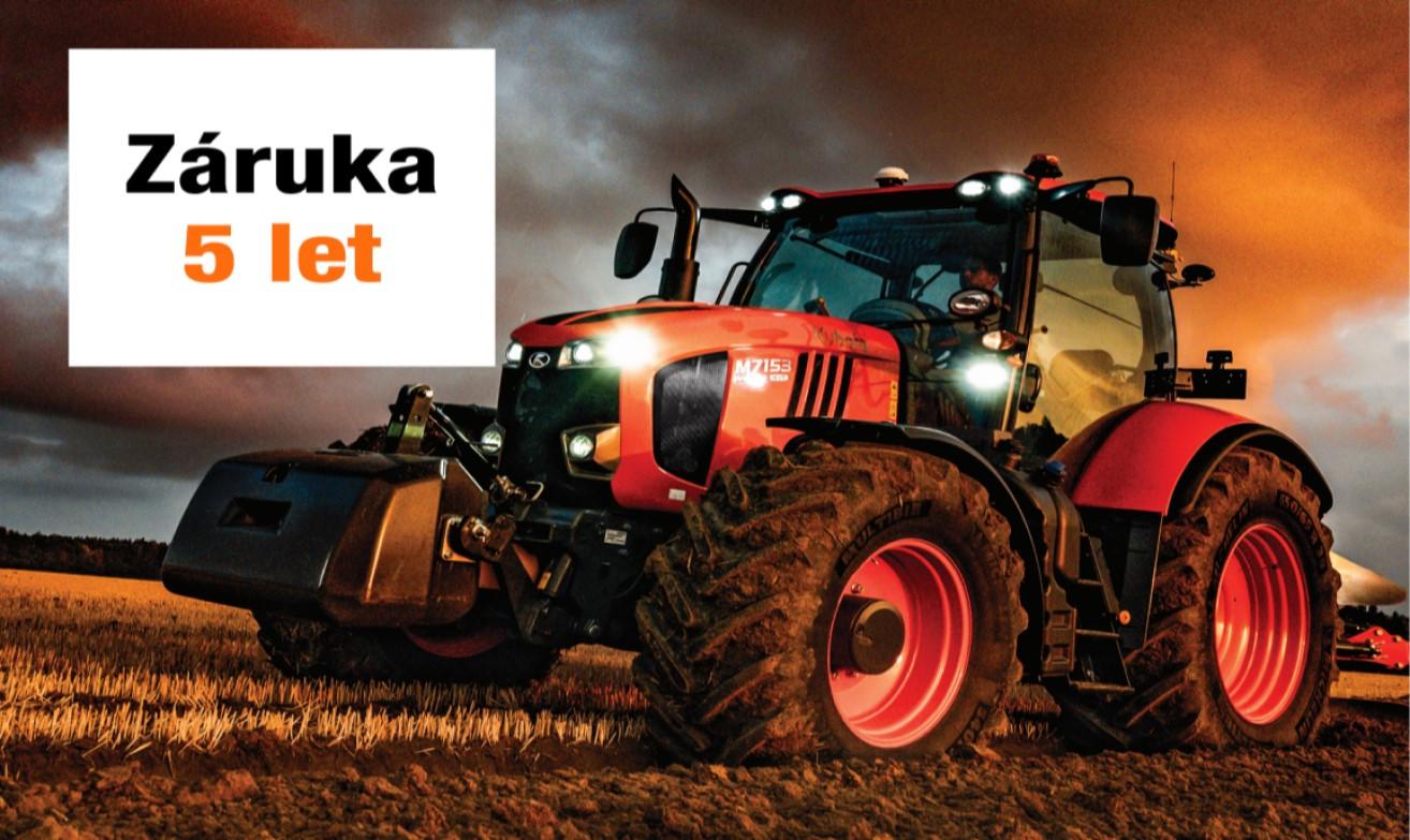 5let záruka na traktory Kubota